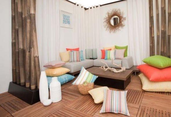 Напольные подушки в качестве мягкой мебели