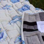 Плед-одеяло из старых свитеров