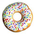 Подушка-антистресс в виде пончика придется по душе детям и взрослым
