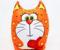 """Подушка-антистресс """"Влюбленный кот"""""""