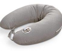 Подушка для кормления серого цвета