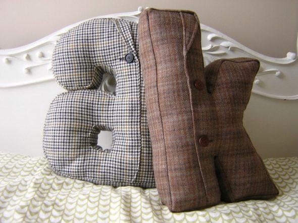 Подушка с буквами