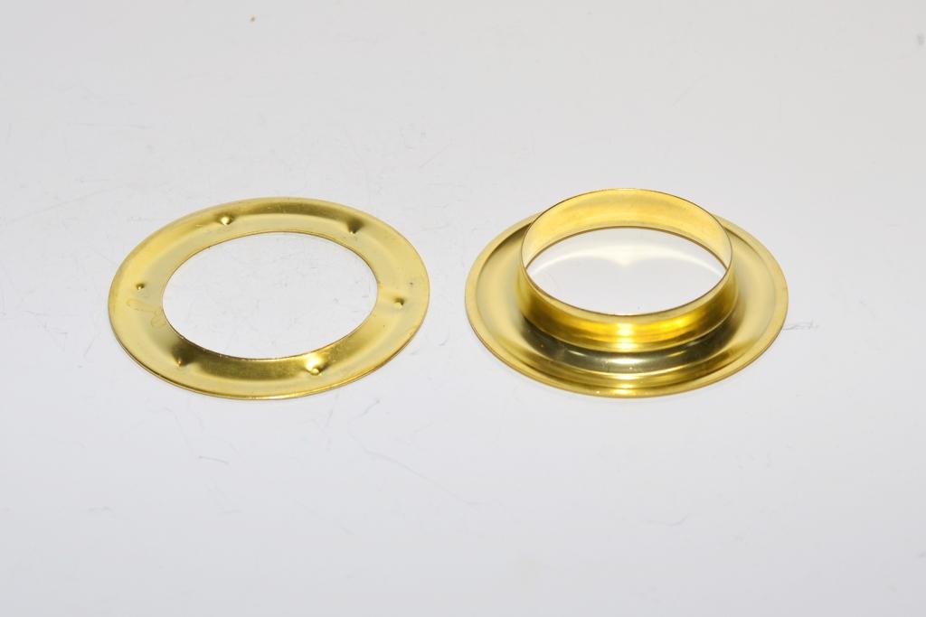 Позолоченный люверс с кольцом для занавески