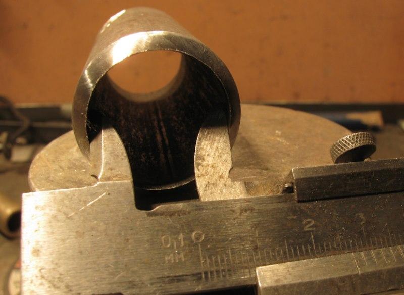 Замер внутреннего диаметра самодельного пробойника
