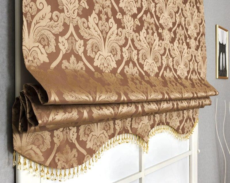 Фото римской шторы классической разновидности