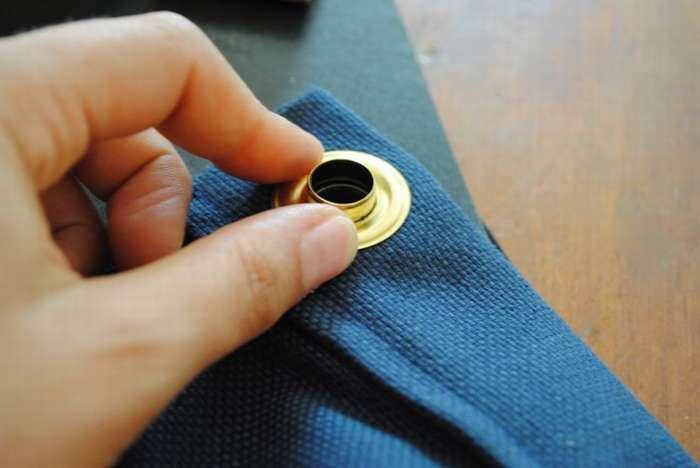 Установка кольца люверса своими руками