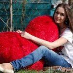 Шикарная огромная подушка-сердце
