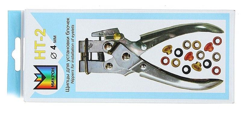 Упаковка с щипцами Micron НТ-2 для установки блочек