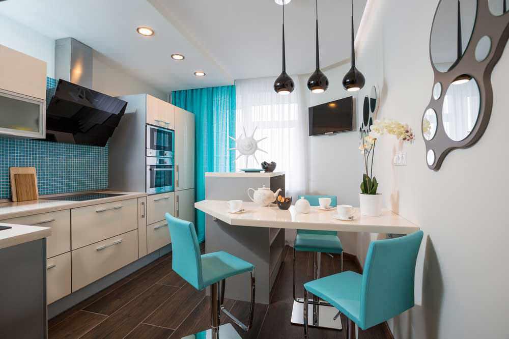 Кухонные стулья бирюзового цвета