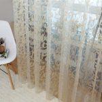 Полупрозрачная тюль с шитьем