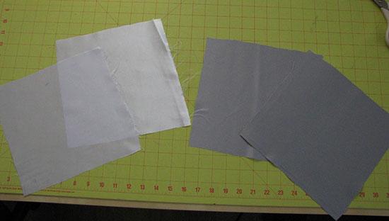Вырезаем квадраты из атласа