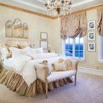 Английские шторы на два окна для спальни