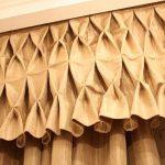 Красивое оформление верха шторы в виде буфов