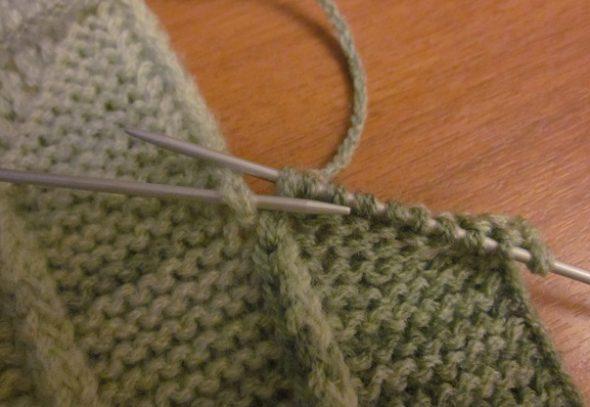 Вязание под обе дольки боковой косички