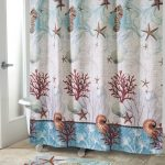 Рисунок морской тематики на занавески в ванной