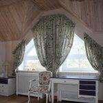 Индивидуальные шторы на симметричные треугольные шторы