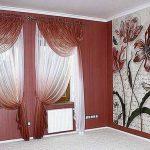 Красивые симметричные шторы для классической гостиной