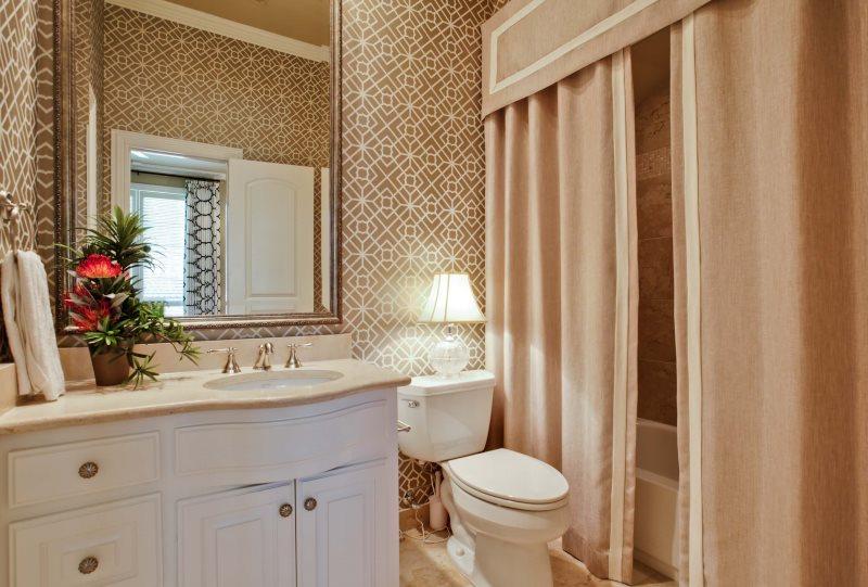 Дизайн ванной комнаты в стиле классики