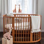 Овальный детский матрас для кроватки