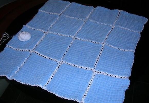 Плед из 16 квадратов