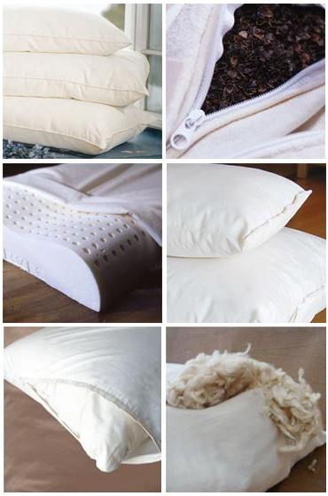 Виды наполнителей для подушек