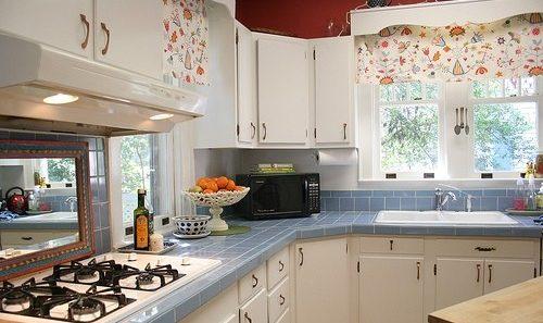 Простые рулонные шторы для кухни