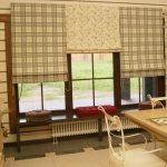 Разные рулонные шторы для столовой