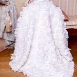 Шикарный белый плед-одеяло с розами