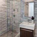 Дизайн ванной с подвесной тумбой