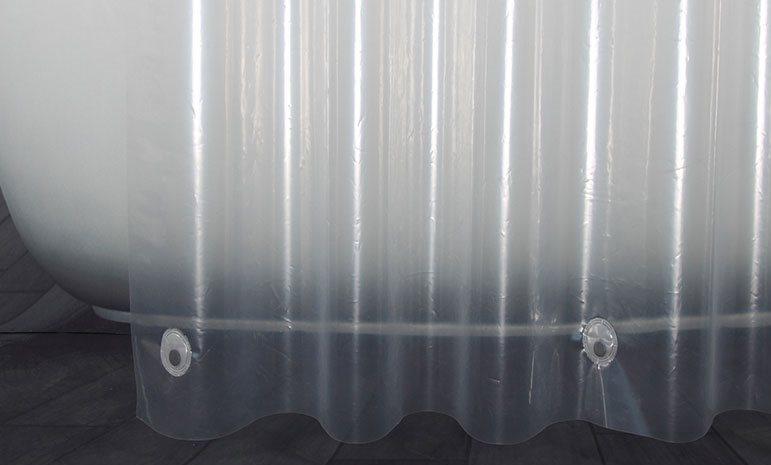 Магнитки на нижней части занавески для ванной