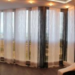 Японские шторы на липкой ленте