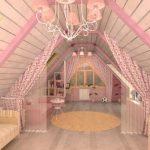 Занавески для треугольных окон для детской комнаты