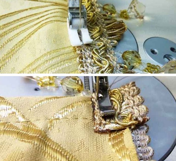 Пришивание бахромы на штору своими руками