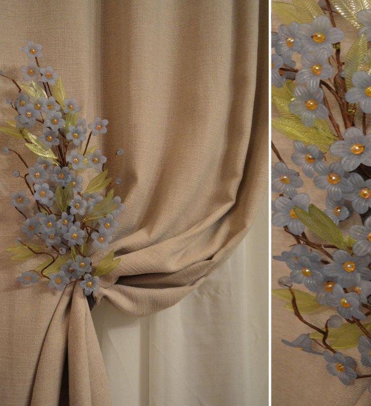 подвязки для штор цветы