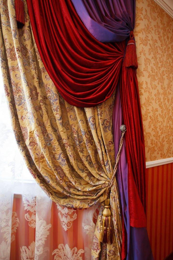 дизайн подвязок для штор