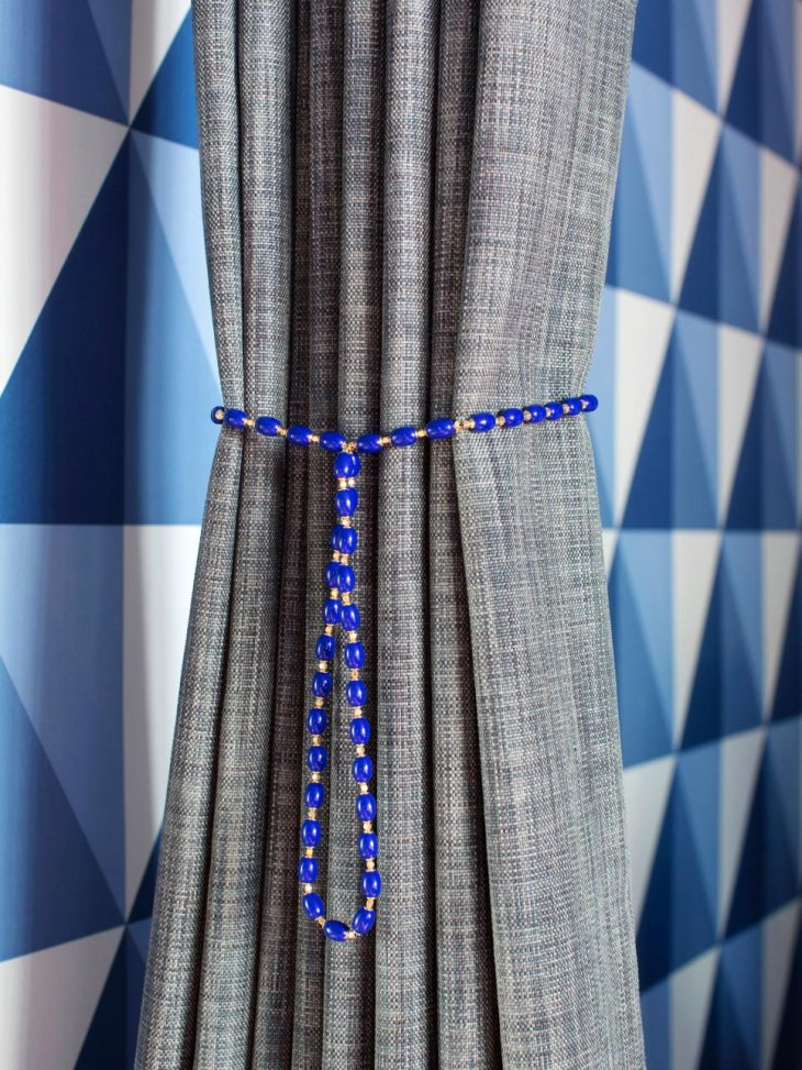 красивая подвязка для шторы