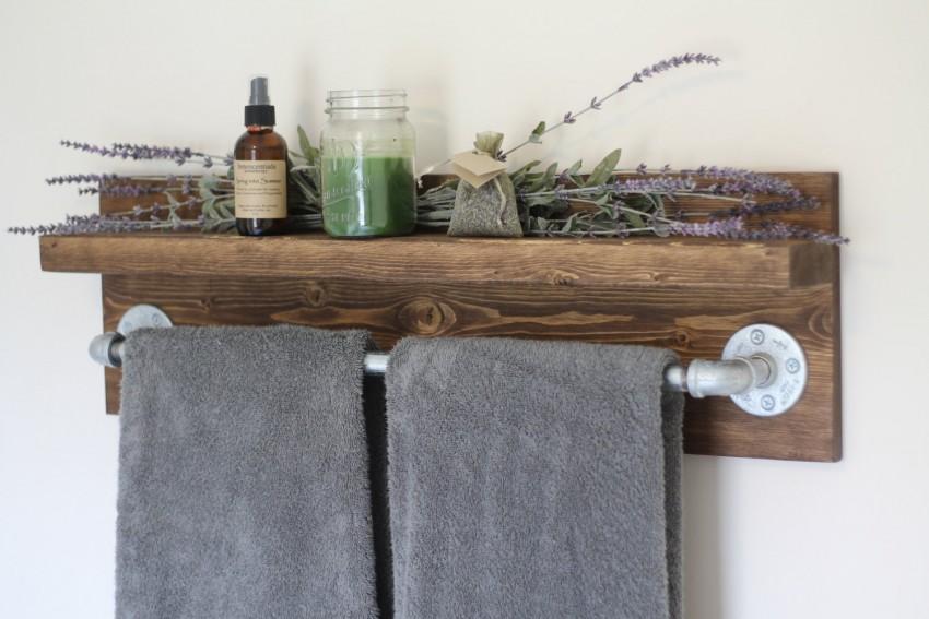 вешалка для полотенец из дерева