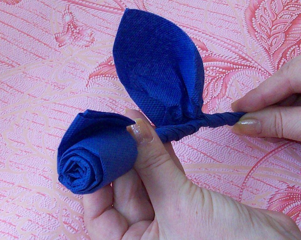 розочки из салфеток своими руками оформление