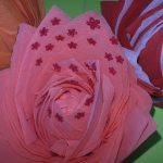 розы из бумажных салфеток декор
