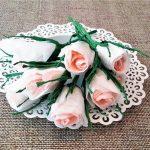 розы из бумажных салфеток декор фото