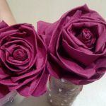 розы из бумажных салфеток фото декор