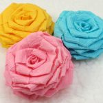 розы из бумажных салфеток фото оформление