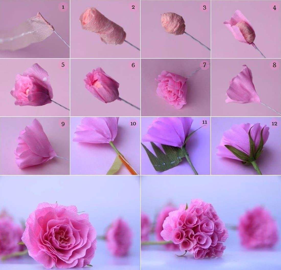 розы из салфеток своими руками фото оформления