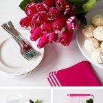 розы из бумажных салфеток оформление