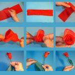 розы из бумажных салфеток варианты