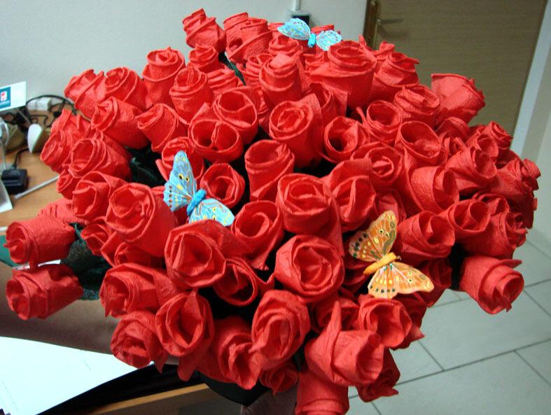 розы из салфеток своими руками