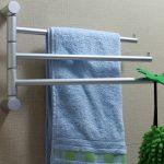 вешалка для полотенец в ванной фото интерьера