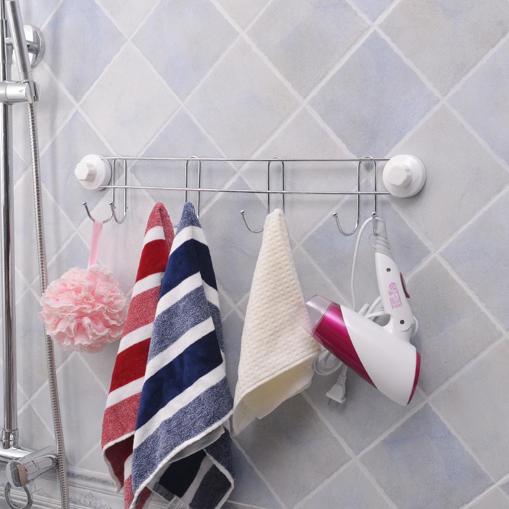 вешалка с крючками в ванную