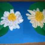 аппликации цветы из бумажных салфеток