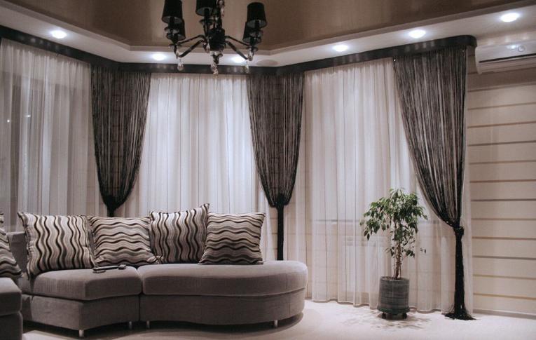 Подбор льняных штор под обивку мягкой мебели